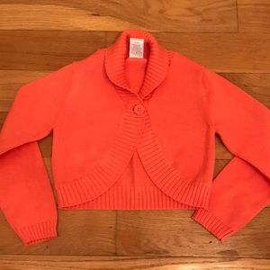 Gymboree Melon colored bolero sweater